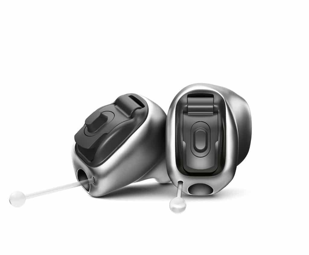 Abbildung Hörgerät im Ohr mit Antenne