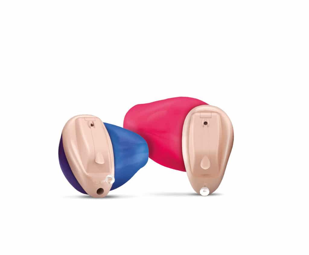 Abbildung Hörgerät im Ohr farbig
