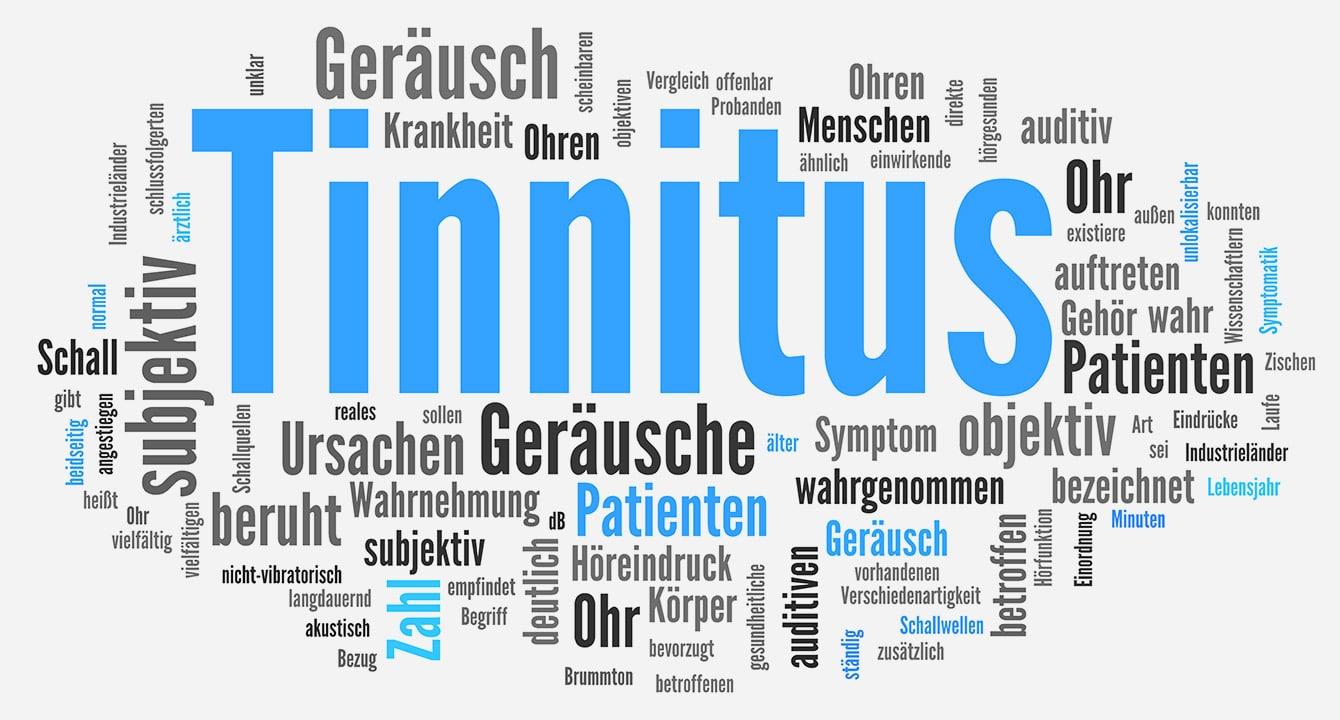 Abbildung von Wörtern zum Thema Tinitus