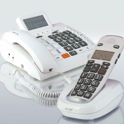 Abbildung Schwerhörigen Telefon Scala