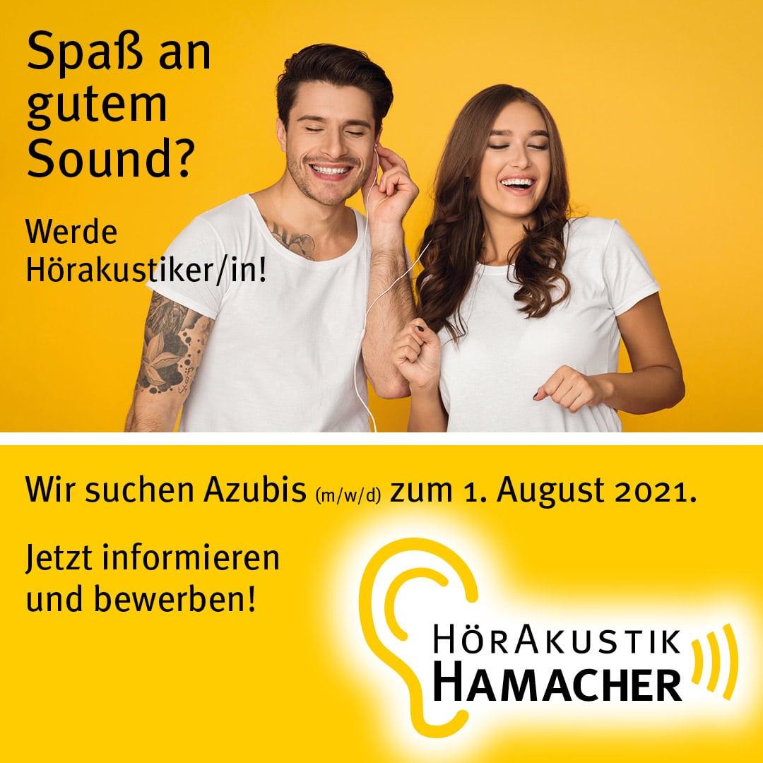 Wir suchen Azubis - Hörakustik Hamacher
